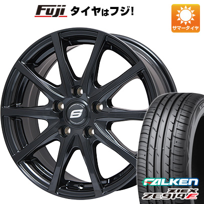 タイヤはフジ 送料無料 BRANDLE ブランドル M71B 7.5J 7.50-18 FALKEN ジークス ZE914F 215/40R18 18インチ サマータイヤ ホイール4本セット