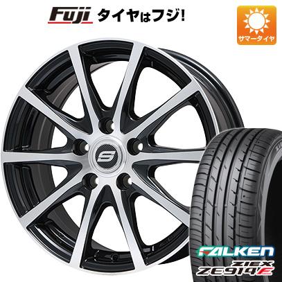 タイヤはフジ 送料無料 BRANDLE ブランドル M71BP 7J 7.00-17 FALKEN ジークス ZE914F 205/50R17 17インチ サマータイヤ ホイール4本セット
