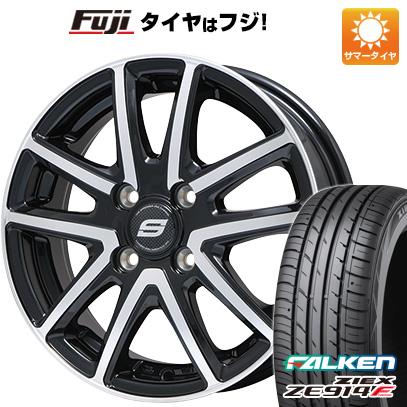 タイヤはフジ 送料無料 BRANDLE ブランドル M61BP 5.5J 5.50-15 FALKEN ジークス ZE914F 185/65R15 15インチ サマータイヤ ホイール4本セット