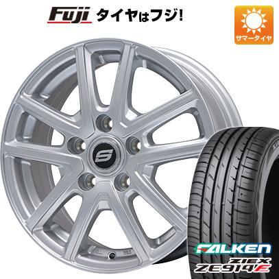 タイヤはフジ 送料無料 BRANDLE ブランドル M61 6J 6.00-16 FALKEN ジークス ZE914F 195/55R16 16インチ サマータイヤ ホイール4本セット