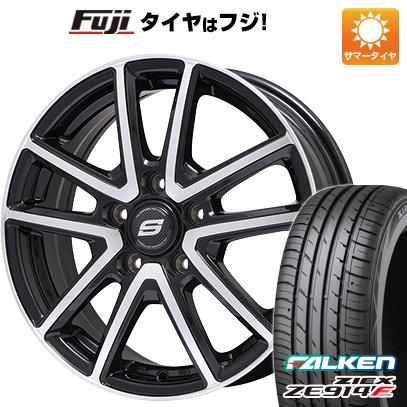 タイヤはフジ 送料無料 BRANDLE ブランドル M61BP 7.5J 7.50-18 FALKEN ジークス ZE914F 215/40R18 18インチ サマータイヤ ホイール4本セット
