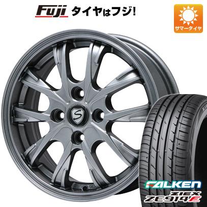 タイヤはフジ 送料無料 BRANDLE ブランドル 486 4.5J 4.50-14 FALKEN ジークス ZE914F 165/55R14 14インチ サマータイヤ ホイール4本セット