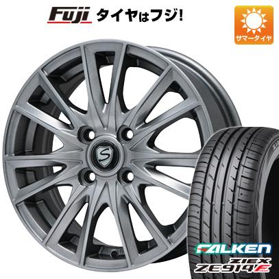 タイヤはフジ 送料無料 BRANDLE ブランドル 485 5J 5.00-15 FALKEN ジークス ZE914F 165/50R15 15インチ サマータイヤ ホイール4本セット