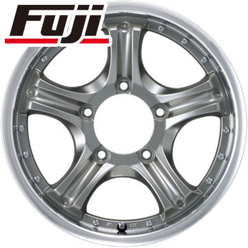 タイヤはフジ 送料無料 ジムニー カジュアルセット タイプE10 チタンシルバー 5.5J 5.50-16 YOKOHAMA ジオランダー M/T+ G001 215/85R16 16インチ サマータイヤ ホイール4本セット