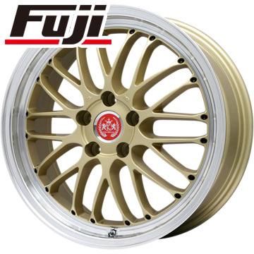 タイヤはフジ 送料無料 LEHRMEISTER レアマイスター ブルネッロ(ゴールド/リムポリッシュ) 7J 7.00-18 NITTO NT555 G2 215/40R18 18インチ サマータイヤ ホイール4本セット