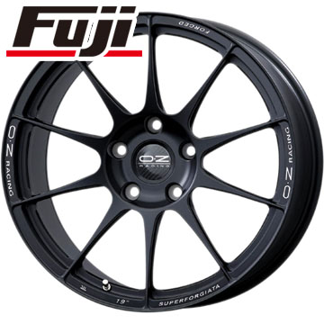 タイヤはフジ 送料無料 OZ スーパーフォージアータ 8.5J 8.50-19 HANKOOK ヴェンタス R-S4 Z232 225/40R19 19インチ サマータイヤ ホイール4本セット 輸入車