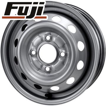 タイヤはフジ 送料無料 ELBE エルベ オリジナル スチール010 4J 4.00-12 DUNLOP グラントレック TG4 6PR 145/80R12 145R12 12インチ サマータイヤ ホイール4本セット