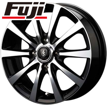 タイヤはフジ 送料無料 MID ユーロスピード BL-10 4J 4.00-12 YOKOHAMA DNA エコス 145/80R12 12インチ サマータイヤ ホイール4本セット