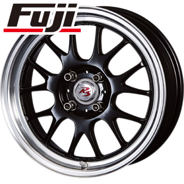 タイヤはフジ 送料無料 CRIMSON クリムソン RS ST AIRモノブロック 5.5J 5.50-15 DUNLOP エナセーブ EC204 175/60R15 15インチ サマータイヤ ホイール4本セット