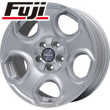 タイヤはフジ 送料無料 PREMIX プレミックス ギア(パールシルバー) 7J 7.00-16 YOKOHAMA ジオランダー SUV G055 225/70R16 16インチ サマータイヤ ホイール4本セット