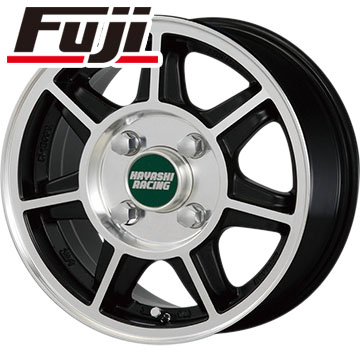 タイヤはフジ 送料無料 HAYASHI RACING ハヤシストリート タイプSF 4J 4.00-12 BRIDGESTONE エコピア R710 80/78N(限定) 145/80R12 12インチ サマータイヤ ホイール4本セット