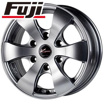 タイヤはフジ 送料無料 NV350キャラバン 5ZIGEN ゴジゲン KOMA3 6J 6.00-15 YOKOHAMA ジオランダー H/T G056 195/80R15 15インチ サマータイヤ ホイール4本セット
