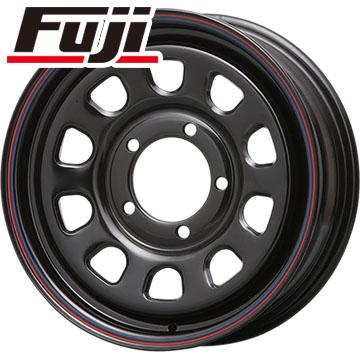 タイヤはフジ 送料無料 ジムニー MLJ デイトナSS 5.5J 5.50-16 YOKOHAMA ジオランダー M/T G003 185/85R16 16インチ サマータイヤ ホイール4本セット