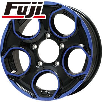 タイヤはフジ 送料無料 ジムニー PREMIX プレミックス ギア(ブラック/ブルークリア) 5.5J 5.50-16 YOKOHAMA ジオランダー M/T G003 185/85R16 16インチ サマータイヤ ホイール4本セット