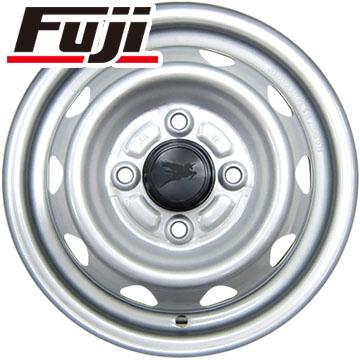 タイヤはフジ 送料無料 ELBE エルベ オリジナル スチール 3.5J 3.50-12 DUNLOP グラントレック TG4 6PR 145/80R12 145R12 12インチ サマータイヤ ホイール4本セット