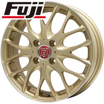 タイヤはフジ 送料無料 PREMIX プレミックス グラッパ(ゴールド/リムポリッシュ) 6.5J 6.50-17 YOKOHAMA DNA エコス 205/40R17 17インチ サマータイヤ ホイール4本セット