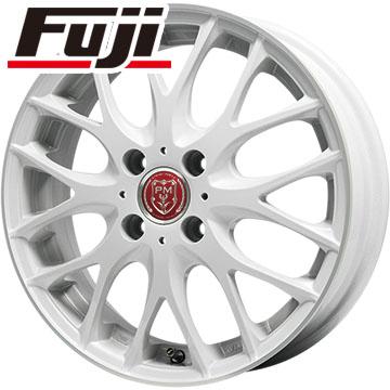 タイヤはフジ 送料無料 PREMIX グラッパ(ホワイト/リムポリッシュ) 4.5J 4.50-15 BRIDGESTONE エコピア NH100 C 165/55R15 15インチ サマータイヤ ホイール4本セット