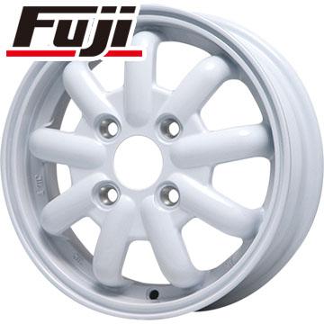 タイヤはフジ 送料無料 BRANDLE-LINE ストレンジャーKST-9 (ホワイト) 3.5J 3.50-12 BRIDGESTONE エコピア R710 80/78N(限定) 145/80R12 12インチ サマータイヤ ホイール4本セット