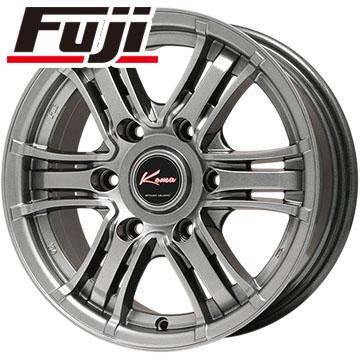 タイヤはフジ 送料無料 ハイエース200系 5ZIGEN ゴジゲン KOMA ブラックマン Limited 6J 6.00-15 MICHELIN アジリス 195/80R15 15インチ サマータイヤ ホイール4本セット