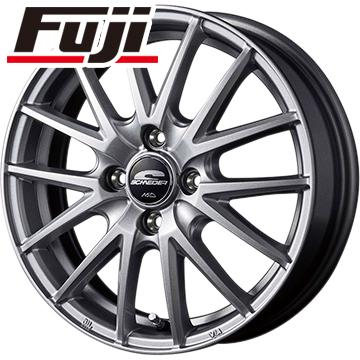 タイヤはフジ 送料無料 MID シュナイダー SQ27 5.5J 5.50-14 DUNLOP ルマン 4(LM704) 185/65R14 14インチ サマータイヤ ホイール4本セット