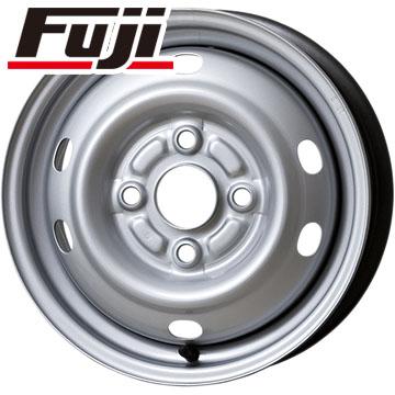 タイヤはフジ 送料無料 ELBE エルベ オリジナル スチール E47 4J 4.00-12 DUNLOP エナセーブ VAN01 6PR 145/80R12 145R12 12インチ サマータイヤ ホイール4本セット