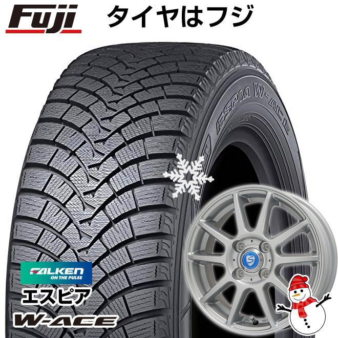 【送料無料】 FALKEN ファルケン エスピア W-ACE 165/55R14 14インチ スタッドレスタイヤ ホイール4本セット BRANDLE ブランドル 302 4.5J 4.50-14