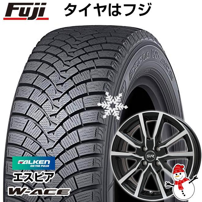 【送料無料】 FALKEN ファルケン エスピア W-ACE 165/65R14 14インチ スタッドレスタイヤ ホイール4本セット BRANDLE ブランドル N52BP 5.5J 5.50-14