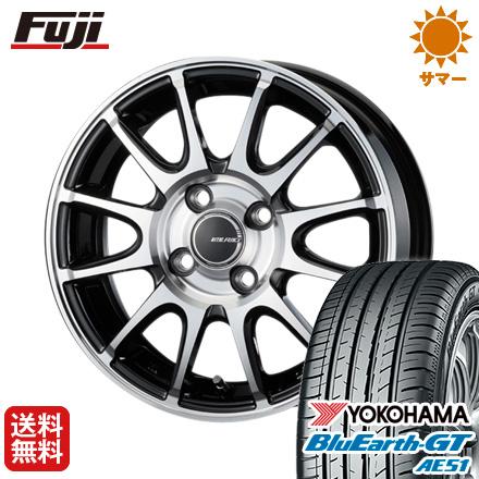 タイヤはフジ 送料無料 KOSEI コーセイ リテラシー LR-01 5.5J 5.50-15 YOKOHAMA ブルーアース GT AE51 185/60R15 15インチ サマータイヤ ホイール4本セット