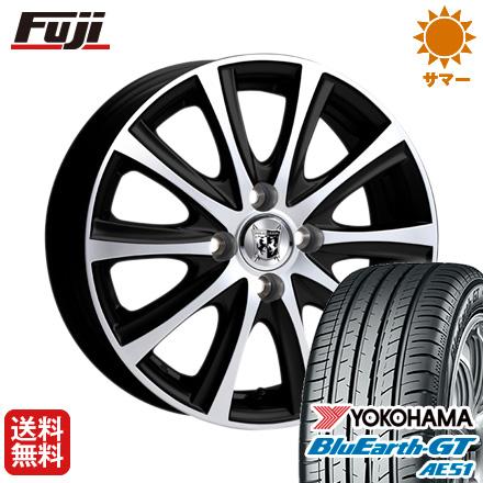 タイヤはフジ 送料無料 KOSEI コーセイ プラウザー デュエル 5.5J 5.50-15 YOKOHAMA ブルーアース GT AE51 185/60R15 15インチ サマータイヤ ホイール4本セット