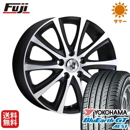 タイヤはフジ 送料無料 シエンタ 5穴/100 KOSEI コーセイ プラウザー デュエル 6J 6.00-15 YOKOHAMA ブルーアース GT AE51 185/60R15 15インチ サマータイヤ ホイール4本セット