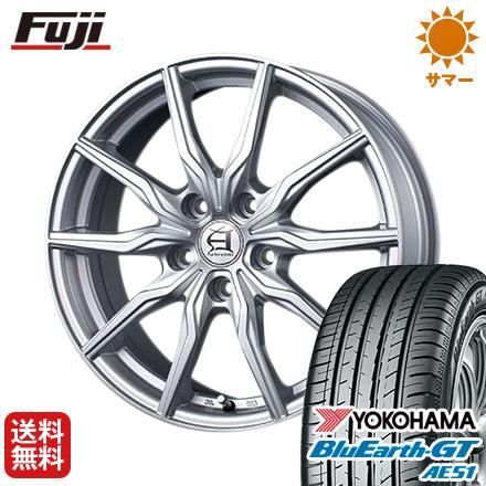タイヤはフジ 送料無料 TECHNOPIA テクノピア アフロディーテ KR限定 6.5J 6.50-16 YOKOHAMA ブルーアース GT AE51 205/65R16 16インチ サマータイヤ ホイール4本セット