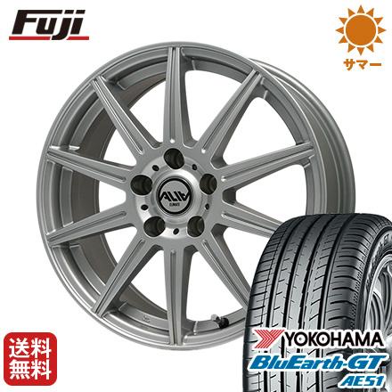 タイヤはフジ 送料無料 GT CLIMATE クライメイト アリア 6.5J 195/55R16 6.50-16 YOKOHAMA 16インチ ブルーアース GT AE51 195/55R16 16インチ サマータイヤ ホイール4本セット, フレームワークス:e29376cc --- sunward.msk.ru