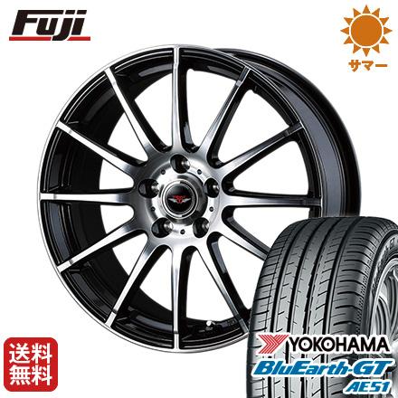 タイヤはフジ 送料無料 WEDS ウェッズ テッドトリック 6J 6.00-15 YOKOHAMA ブルーアース GT AE51 205/65R15 15インチ サマータイヤ ホイール4本セット