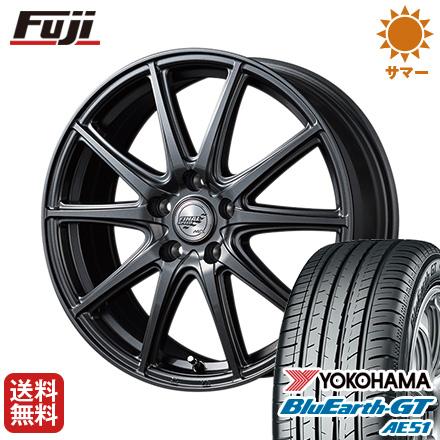 タイヤはフジ 送料無料 MID ファイナルスピード GR-ガンマ 6J 6.00-15 YOKOHAMA ブルーアース GT AE51 195/60R15 15インチ サマータイヤ ホイール4本セット