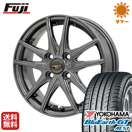 タイヤはフジ 送料無料 MORITA モリタ MRT Z-05 5.5J 5.50-15 YOKOHAMA ブルーアース GT AE51 175/65R15 15インチ サマータイヤ ホイール4本セット