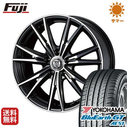 タイヤはフジ 送料無料 WEDS ウェッズ ライツレー DK 6J 6.00-15 YOKOHAMA ブルーアース GT AE51 195/65R15 15インチ サマータイヤ ホイール4本セット