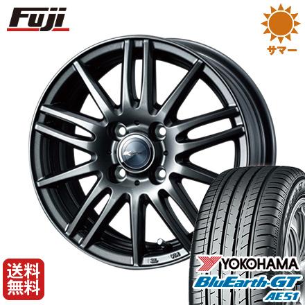 タイヤはフジ 送料無料 フリード 5穴/114 WEDS ウェッズ ザミック ティート 5.5J 5.50-15 YOKOHAMA ブルーアース GT AE51 185/65R15 15インチ サマータイヤ ホイール4本セット