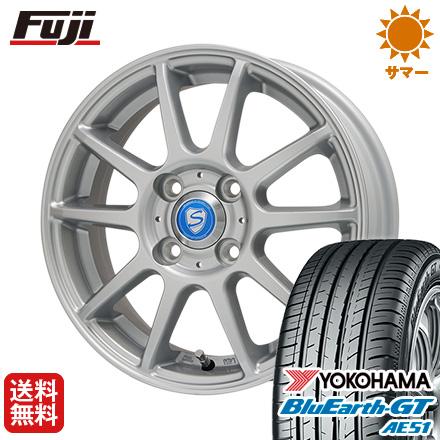 タイヤはフジ 送料無料 BRANDLE-LINE ブランドルライン カリテスS10 シルバー 4.5J 4.50-15 YOKOHAMA ブルーアース GT AE51 165/55R15 15インチ サマータイヤ ホイール4本セット