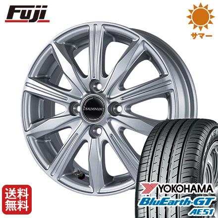 タイヤはフジ 送料無料 フリード 5穴/114 BRIDGESTONE ブリヂストン バルミナ KR10 5.5J 5.50-15 YOKOHAMA ブルーアース GT AE51 185/65R15 15インチ サマータイヤ ホイール4本セット
