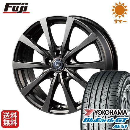 タイヤはフジ 送料無料 INTER MILANO インターミラノ クレール RG10 6J 6.00-15 YOKOHAMA ブルーアース GT AE51 195/60R15 15インチ サマータイヤ ホイール4本セット