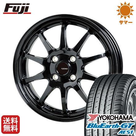 タイヤはフジ 送料無料 HOT STUFF ホットスタッフ ジースピード G-04 5.5J 5.50-15 YOKOHAMA ブルーアース GT AE51 185/55R15 15インチ サマータイヤ ホイール4本セット