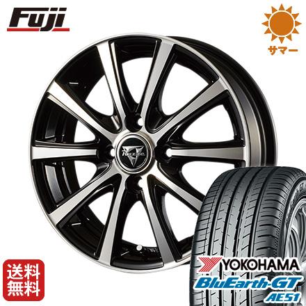 タイヤはフジ 送料無料 INTER MILANO インターミラノ レイジー XV 4.5J 4.50-14 YOKOHAMA ブルーアース GT AE51 155/65R14 14インチ サマータイヤ ホイール4本セット