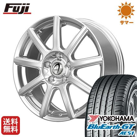 タイヤはフジ 送料無料 TECHNOPIA テクノピア アルテミス NS9 6J 6.00-15 YOKOHAMA ブルーアース GT AE51 195/60R15 15インチ サマータイヤ ホイール4本セット