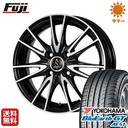 タイヤはフジ 送料無料 WORK ワーク セプティモ G02 ブラックポリッシュ 5.5J 5.50-15 YOKOHAMA ブルーアース GT AE51 185/65R15 15インチ サマータイヤ ホイール4本セット