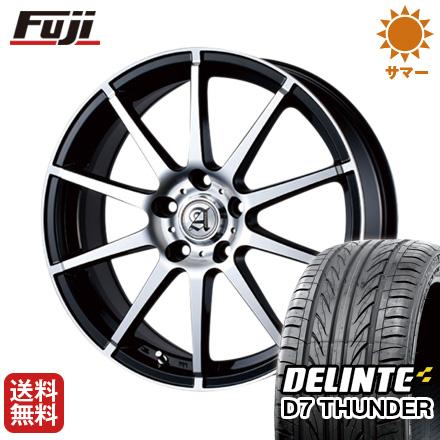 タイヤはフジ 送料無料 TECHNOPIA テクノピア アドニス HSR 7.5J 7.50-18 DELINTE デリンテ D7 サンダー(限定) 225/45R18 18インチ サマータイヤ ホイール4本セット