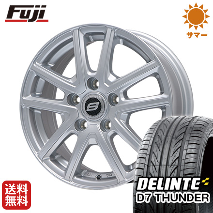 タイヤはフジ 送料無料 BRANDLE ブランドル M61 7.5J 7.50-18 DELINTE デリンテ D7 サンダー(限定) 235/55R18 18インチ サマータイヤ ホイール4本セット