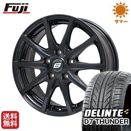 タイヤはフジ 送料無料 BRANDLE ブランドル M71B 7.5J 7.50-18 DELINTE デリンテ D7 サンダー(限定) 225/45R18 18インチ サマータイヤ ホイール4本セット