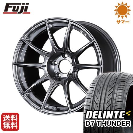 タイヤはフジ 送料無料 SSR GTX01 8.5J 8.50-18 DELINTE デリンテ D7 サンダー(限定) 235/40R18 18インチ サマータイヤ ホイール4本セット
