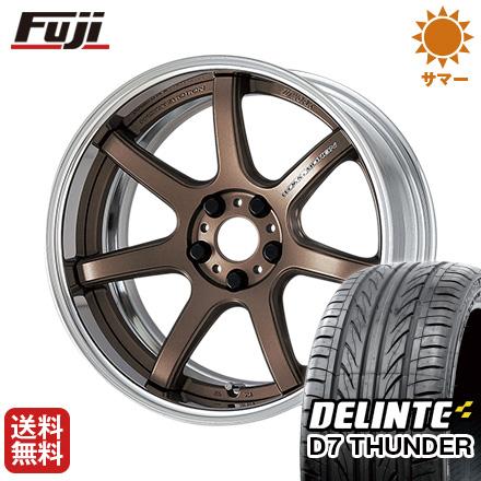 タイヤはフジ 送料無料 WORK ワーク エモーション T7R 2P 8J 8.00-18 DELINTE デリンテ D7 サンダー(限定) 235/40R18 18インチ サマータイヤ ホイール4本セット