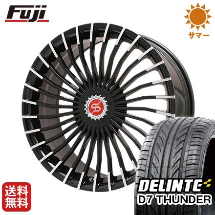 タイヤはフジ 送料無料 PREMIX プレミックス グラッパ f30 (ブラックポリッシュ) 8J 8.00-18 DELINTE デリンテ D7 サンダー(限定) 235/40R18 18インチ サマータイヤ ホイール4本セット